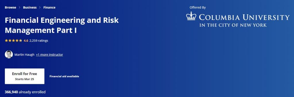 Financial engineering and Risk Management Part 1