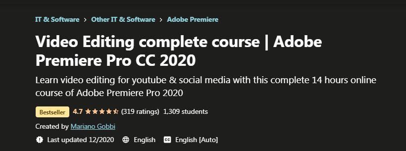 Video Editing Complete course Adobe Premiere Pro CC 2021