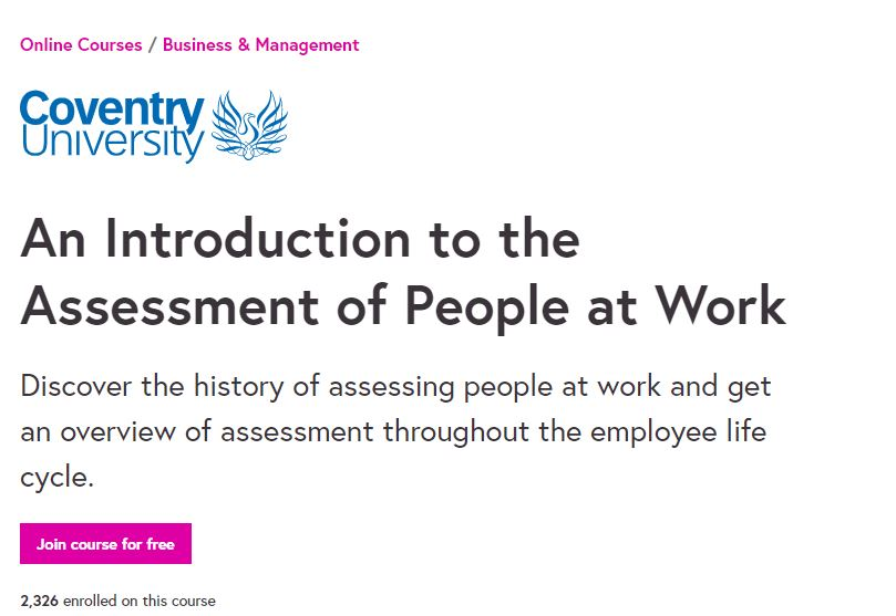 An introduction to the Assessment of people at work