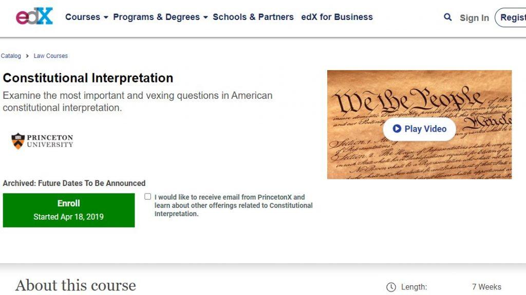Constitution interpretation