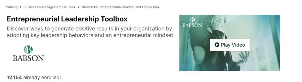 Enterprenureial leadership