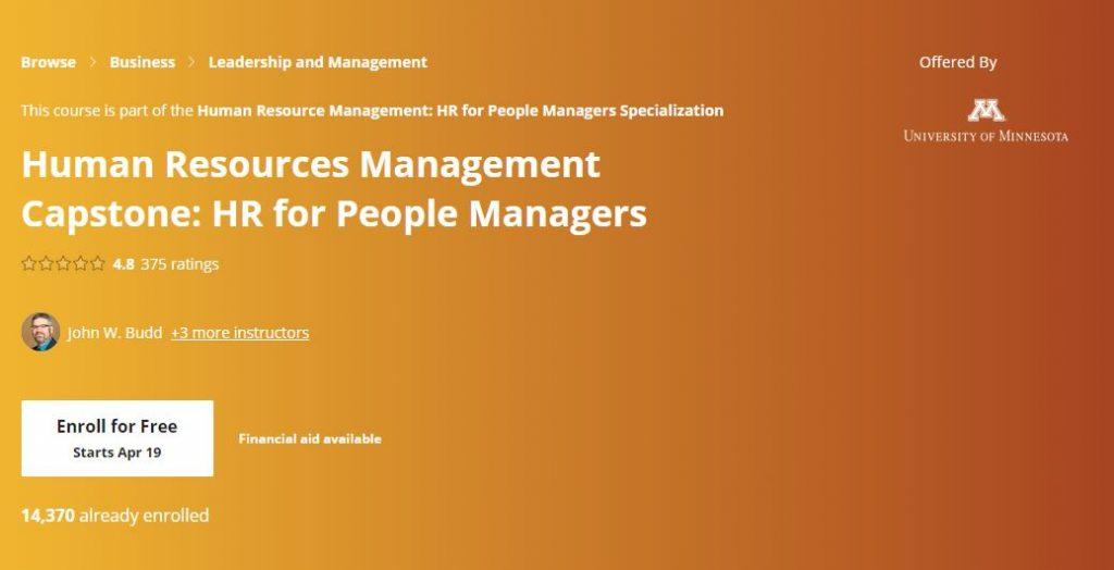 Human resources management capstone