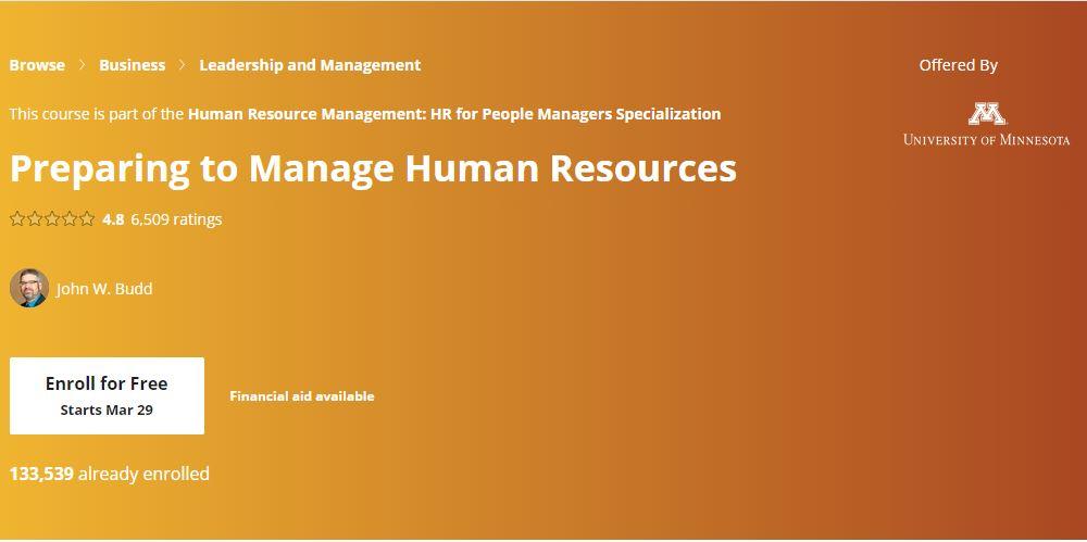 PreParing to Manage Human resources