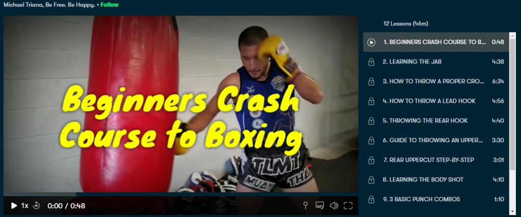 Crach course to Boxing
