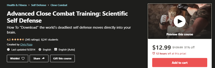 Advanced Close Combat Training: Scientific Self Defense