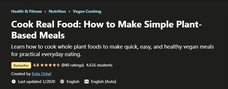 Cook Real Food How to Make Siple Plant Based Meals