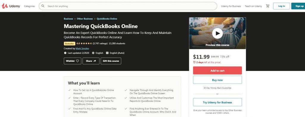 Mstering QuickBook online
