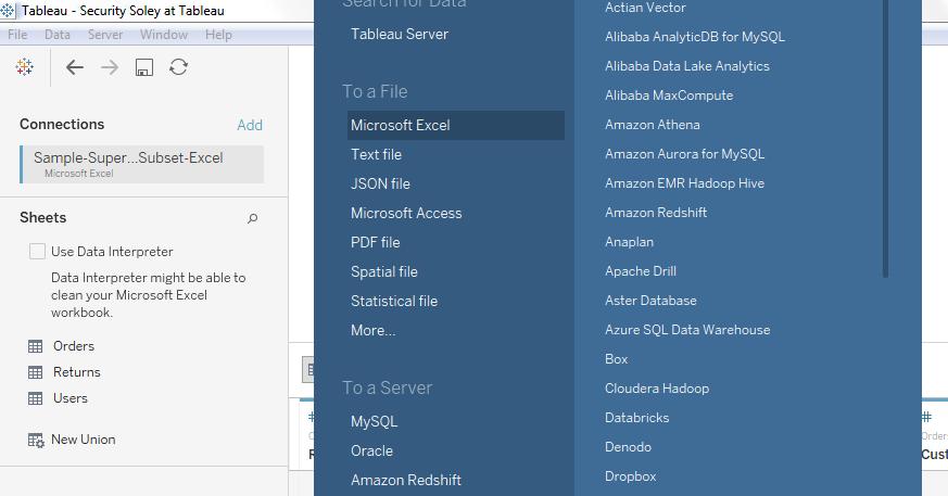 Connect to Tableau Desktop