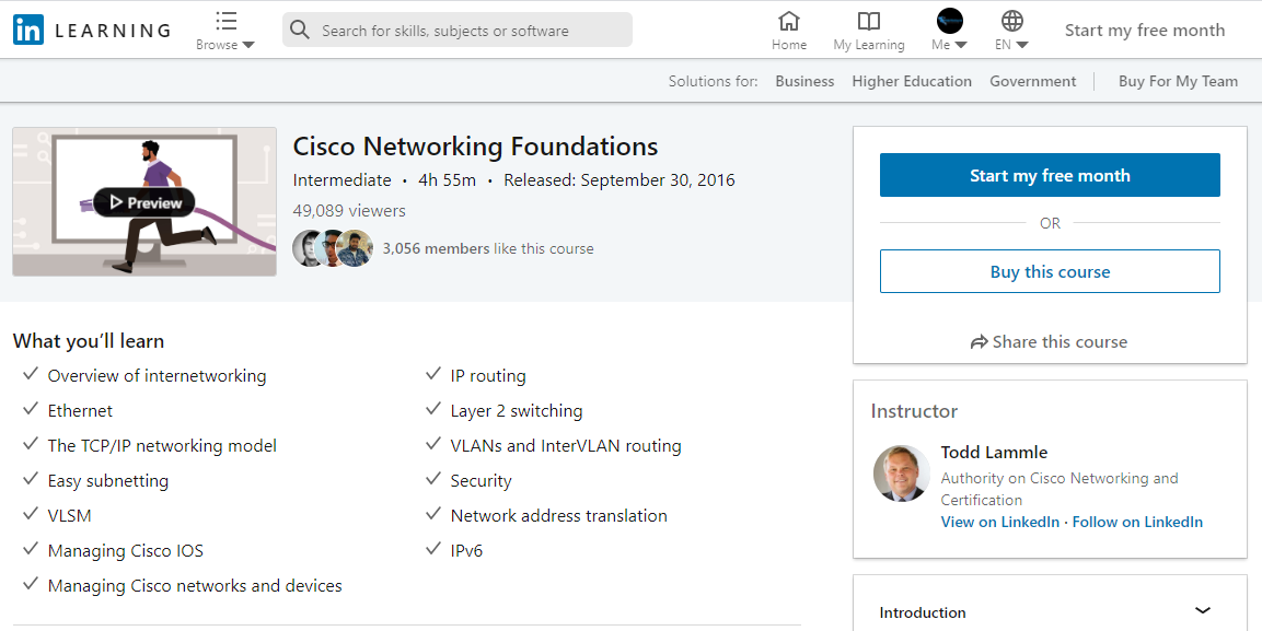 Cert Prep: Cisco Certified Entry Networking Technician (100-105)