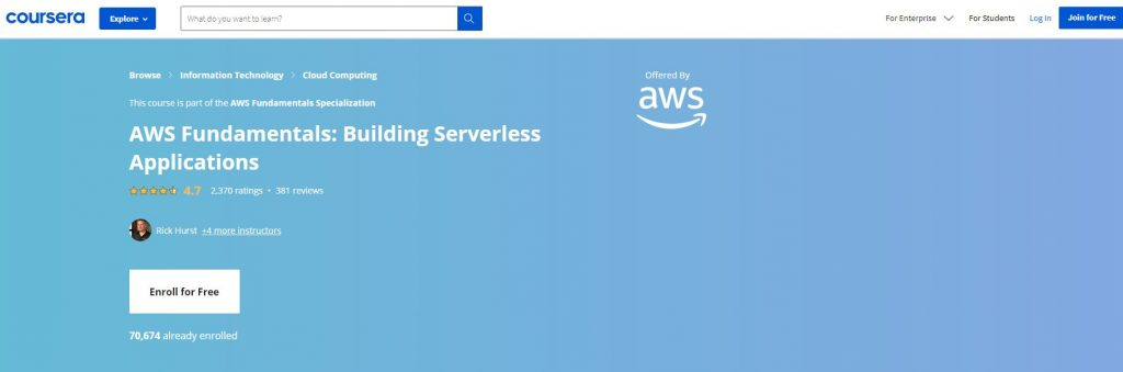 AWS Fundamentals building Serverless Application