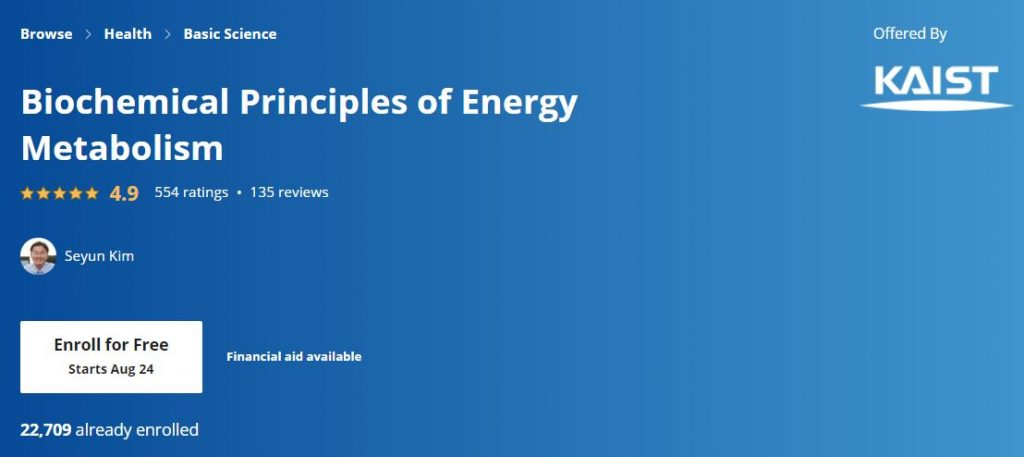 Biochemical principles of energy