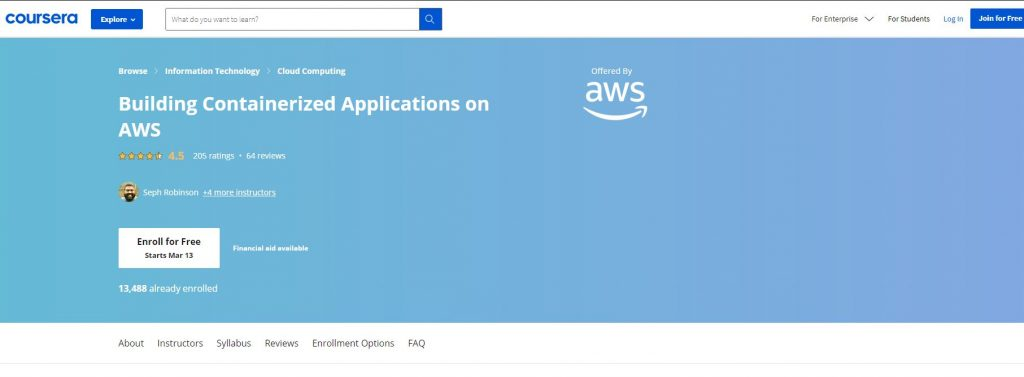 Building Cintainerrized Application ON Aws