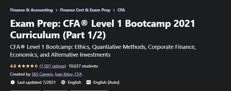 CFA Bootcamp
