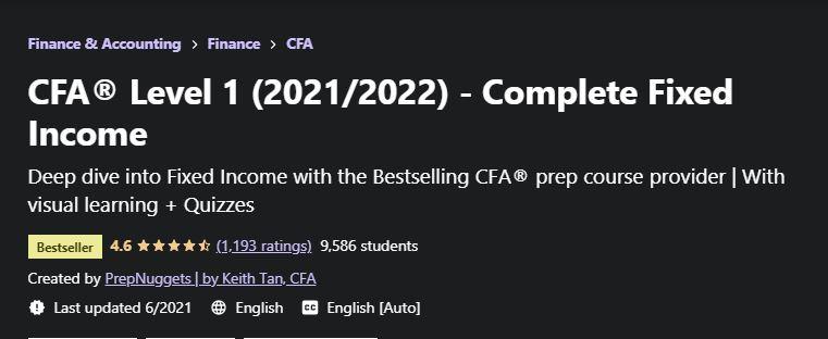 CFA Level 1 Complete fixed income