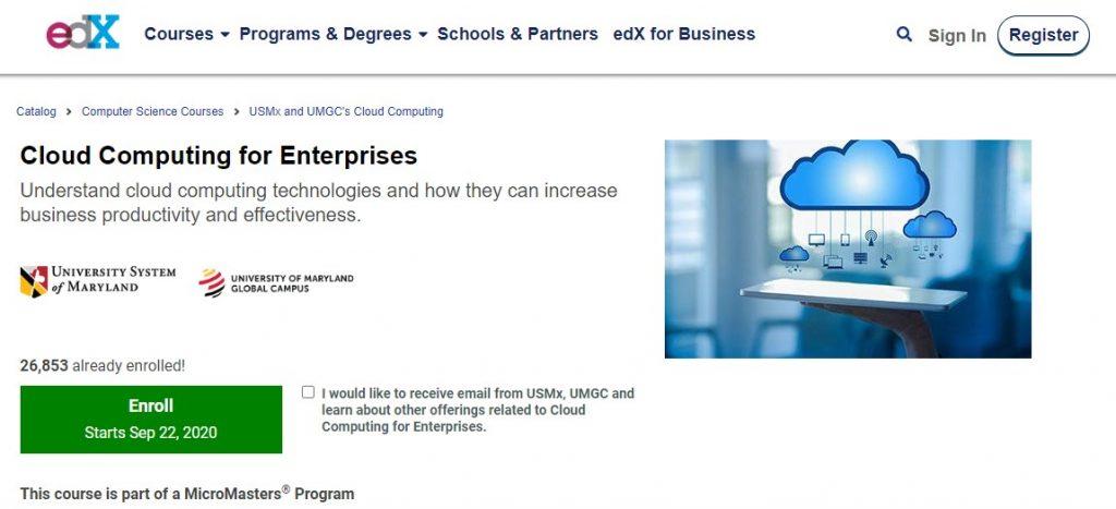 Cloud computing for interprises