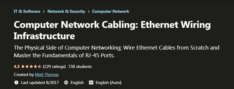 Computer network cabling ethernet wiring Infrastructure