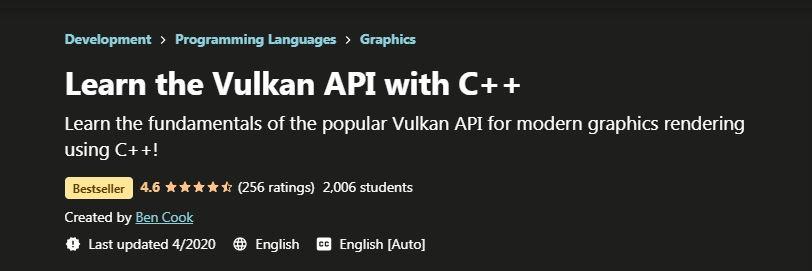 Leaarn the Vulkan API with C++