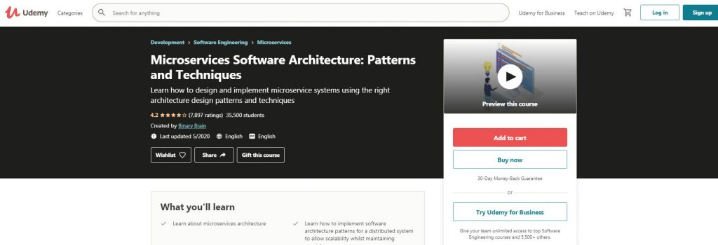 Microservices software architecture Pattern and techniques