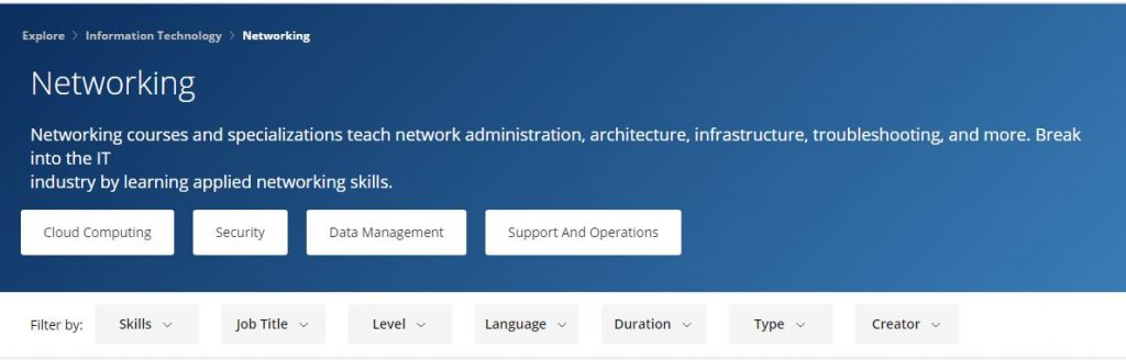 Cisco Networking Basics Specialization