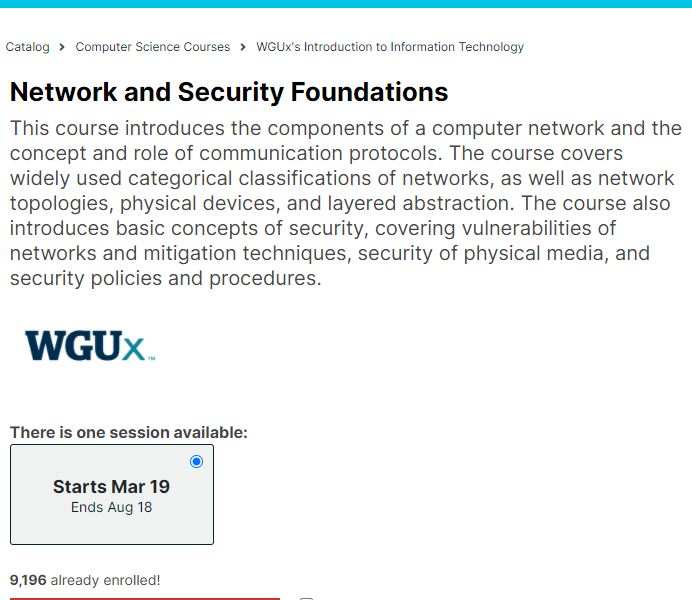 Networking and security Foundation