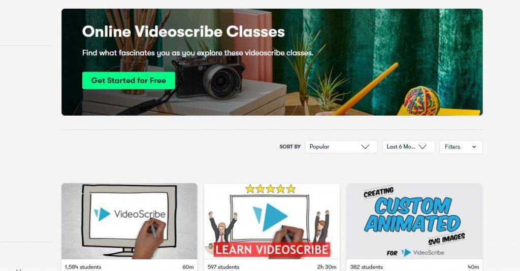 Online videoscribe classes