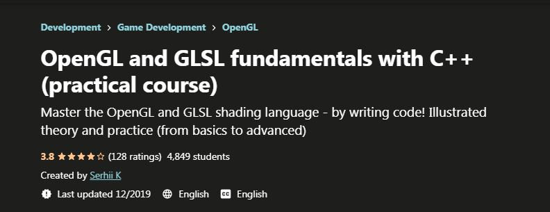 OpenGL and GLSL fundamentals with C++