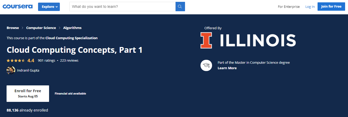 Cloud Computing Courses by University of Illinois