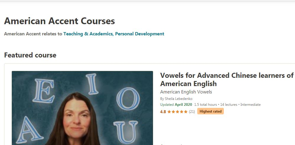 American Accent courses