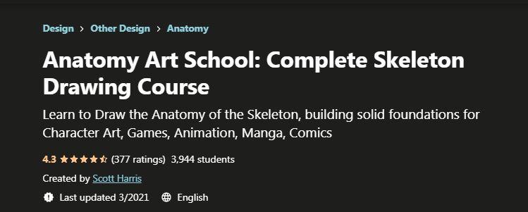 Anatomy Art School Complete Skeleton Drawing Course