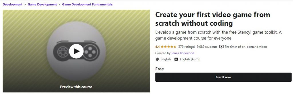Create your first video game from scrach