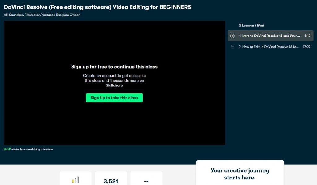 Davinci resolve free editing software video editing for beginners