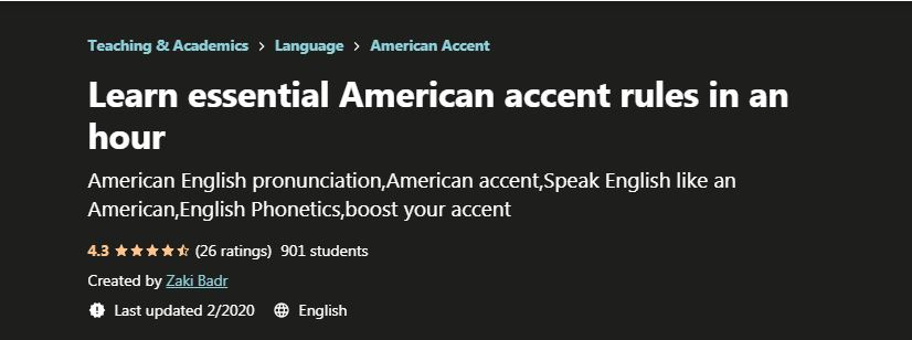 Learn Esential American Accent rules in an hour