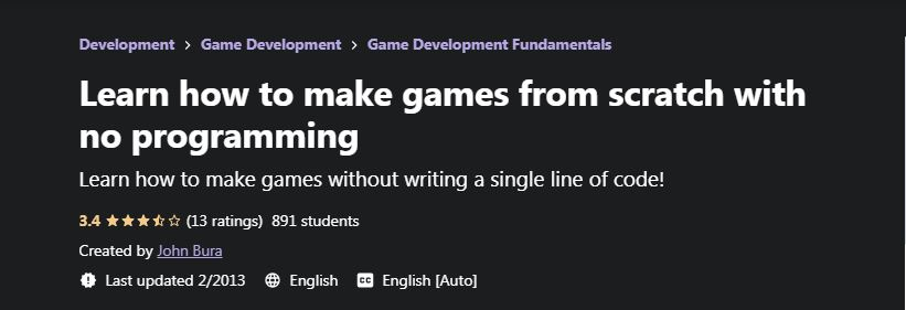 Learn how to make games from scratch