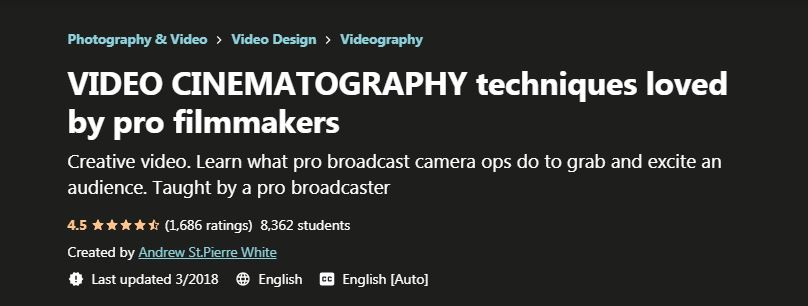 VIDEO CINEMATOGRAPHY techniques loved by pro filmmakers