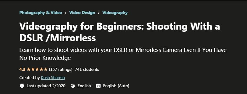 Videography for Beginners shooting with a DSLR Mirrorless