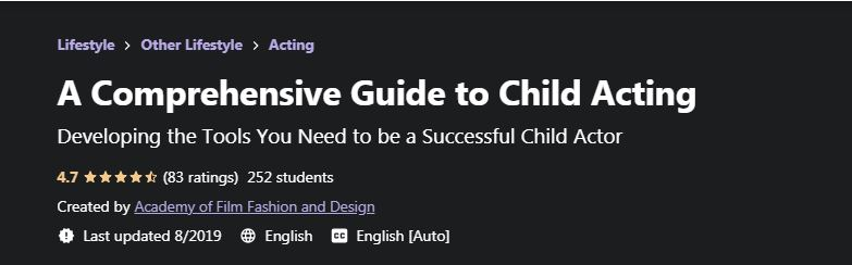 A Comprehensive guide to child acting