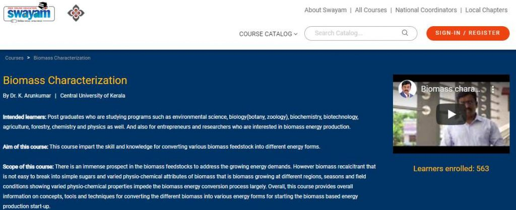Biomasss characterization
