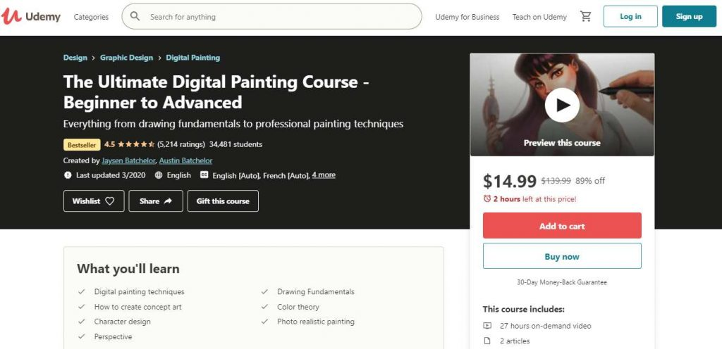 Digital painting course