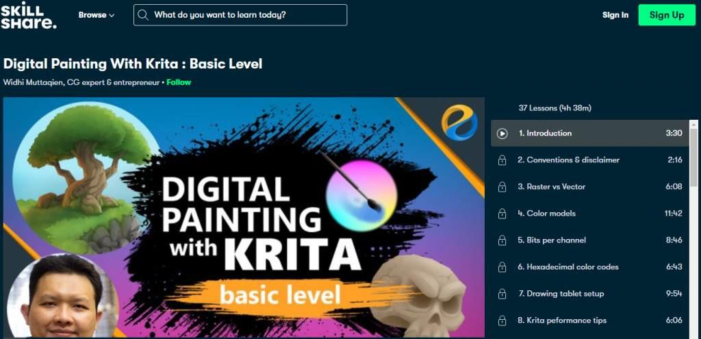 Digital painting with krita