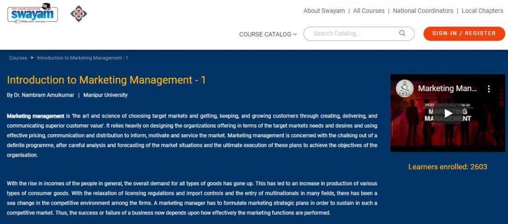 Intro to marketing management