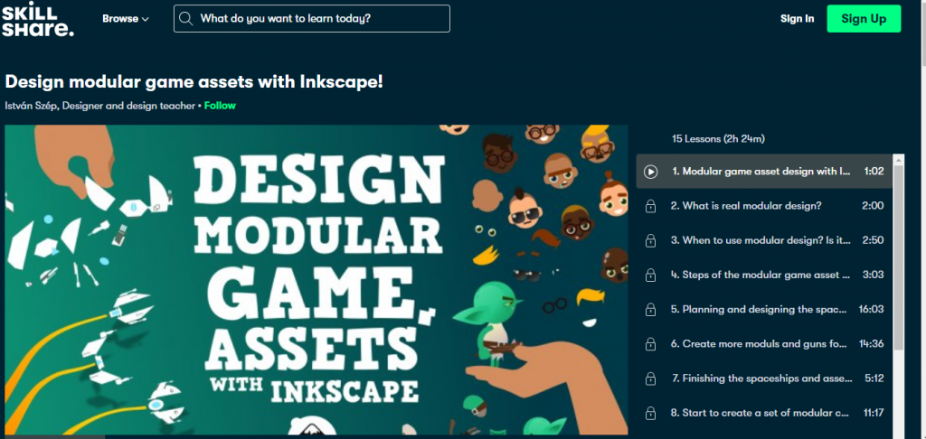 Design modular game assets with Inkscape