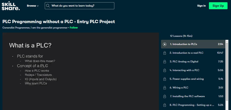 PLC Programming without a PLC - Entry PLC Project