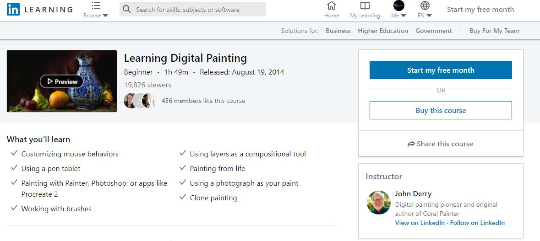 Digital Painting School Classes