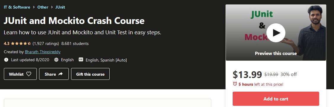 JUnit and Mockito Crash Course