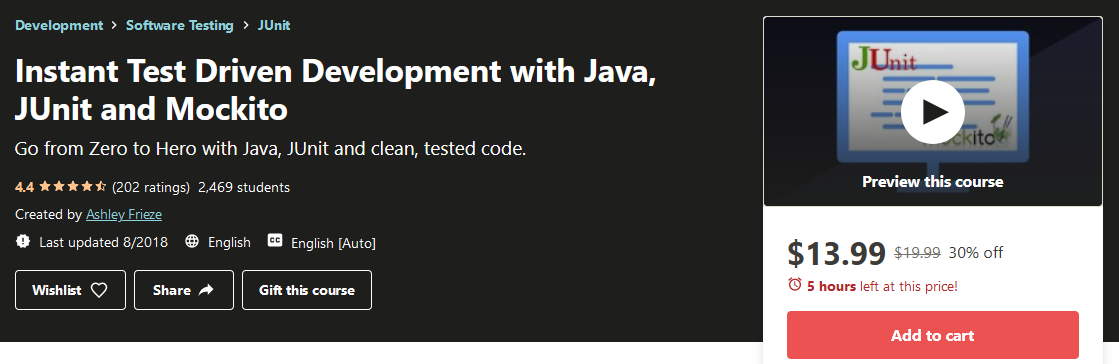 Instant Test-Driven Development with Java, JUnit, and Mockito