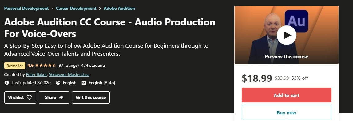 Adobe Audition CC Course - Audio Production For Voice-Overs