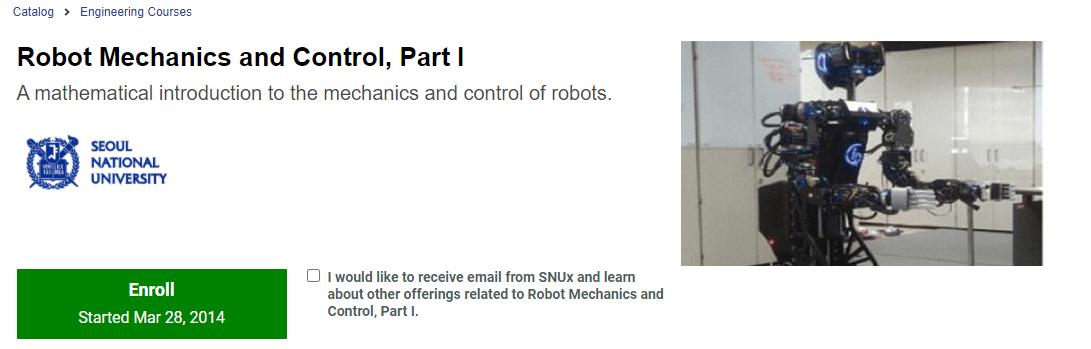 Robot Mechanics and Control