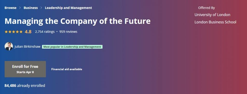 managing the company in the future