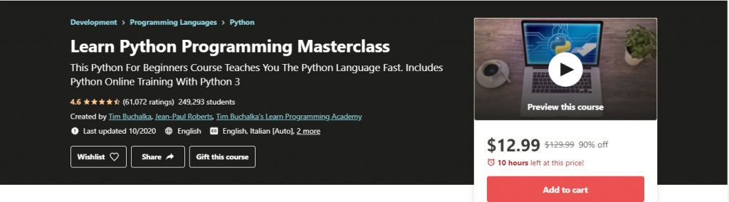 Learn python programing