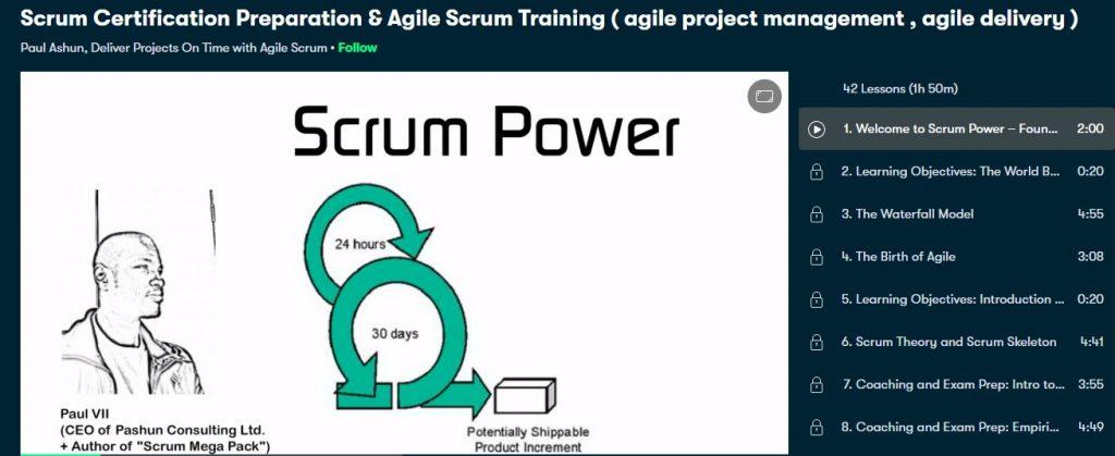 Scrum certification preperation